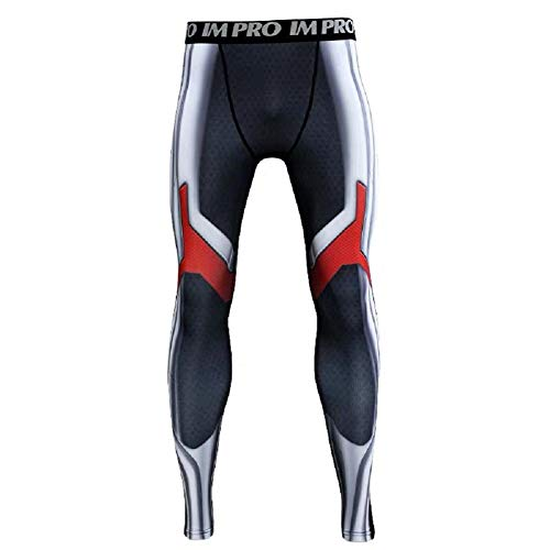 Cosfunmax Superhero AE Cosplay Compression Sports 3D Tight Quick Dry Base Layer Pants S ()
