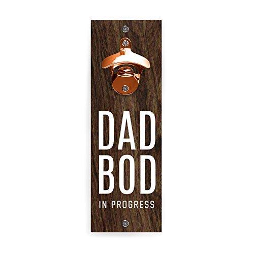 Wild Eye Designs magnético montado en la pared abrebotellas Papá Bod