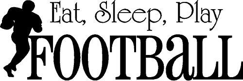 VINYL WALL DECAL STICKER EAT SLEEP PLAY FOOTBALL KIDS ROOM HOME DECOR SPORTS HOBBIES OUTDOORS