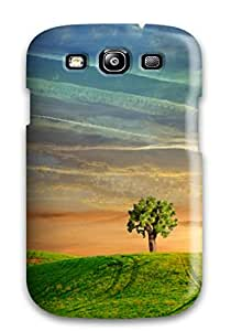New Fashion Premium Tpu Case Cover For Galaxy S3 - Only To Be With You Green White Yellow Tree Grass Nature Other