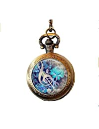 The Color of Music pendant, music pocket watch necklace music jewelry music jewellery music lover's gift, music teacher gift, music povket watch