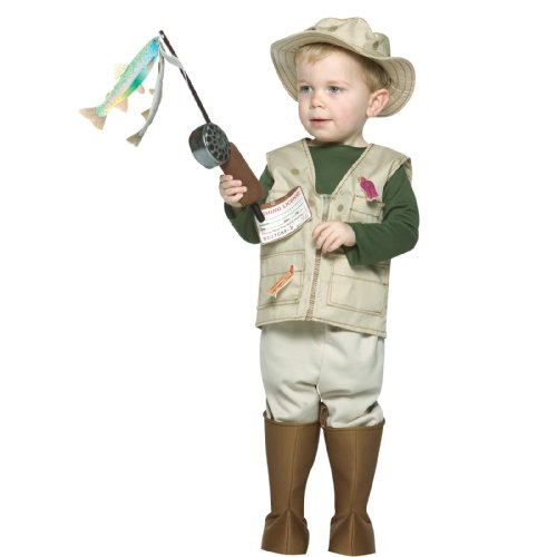 Future Fisherman Child Costume (Rasta Imposta Future Fisherman, Brown, 3-4T)