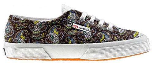 Superga Chaussures Coutume Brown Paisley (produit artisanal)