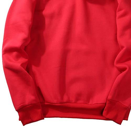 Poche D'hiver Hommes Windy5 Automne Hoodies shirts Garçons Manches Longues À Rouge Sweat 6Zdwqzx