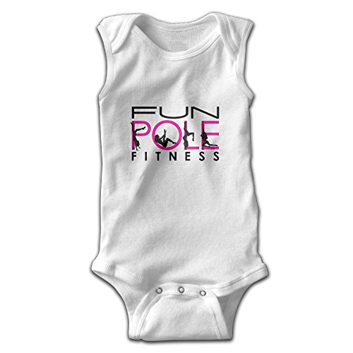 Sleeveless Fun Pole Dance Fitness Baby Girls Boys Cute Onesies Bodysuit Romper Outfits 24 Months