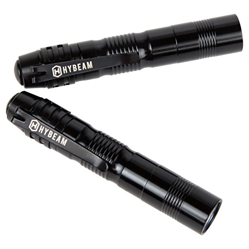 Hybeam MicroLight Pocket-Sized LED Penlight, Pen Light Pack of 2 by Hybeam