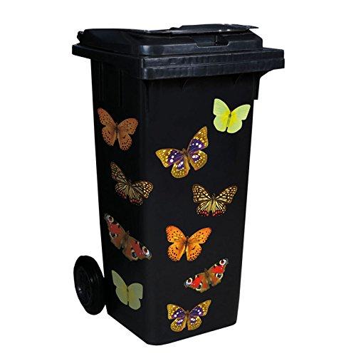 ROLLER Mülltonnen-Aufkleber - Schmetterling - 35x50 cm