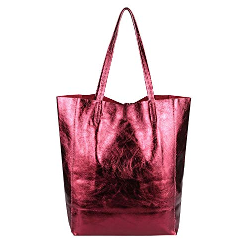 36x40x12 Rot ca OBC BxHxT Cm Bordo donna mano Beautiful Only Borsa a 36x40x12 Couture metallic Rosso cm fqxf7UP8w