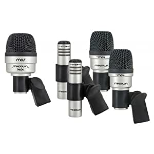 cad five piece drum microphone set with 2 tom snare microphones 1 kick microphone. Black Bedroom Furniture Sets. Home Design Ideas