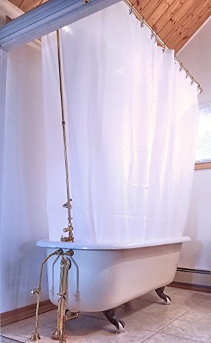 Clawfoot Designs Heavy Duty PEVA Tub Shower Curtain No Odor Extra Wide 180x70 by Clawfoot Designs
