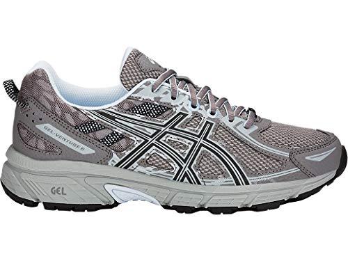 ASICS Women's Gel-Venture 6 Running Shoes, 9M, Carbon/Soft Sky (Best Soft Running Shoes)