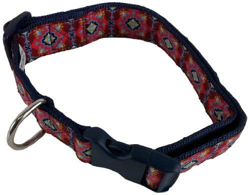 Ribbon Medallion (La Petrick Basic Ribbon Red Medallions Collar, Small)