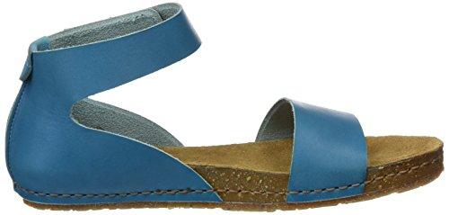 The Art Company 0440 Mojave Creta, Sandalias con Plataforma Plana para Mujer Azul (Albufera)
