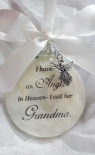 Memorial Christmas Ornament Sympathy Gift - Angel in Heaven I Call Her Grandma