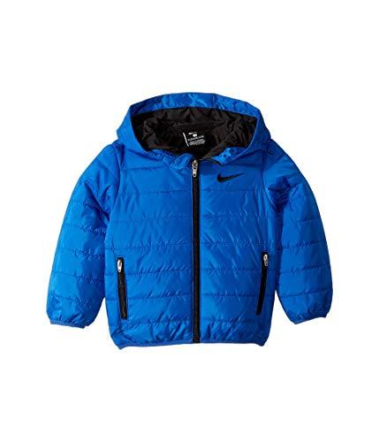 Nike Kids Baby Boy's Quilted Jacket (Toddler) Game Royal/Black 4T (Nike Boy Coat)