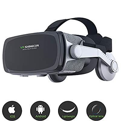 Virtual Reality Headset, VR SHINECON New Version 9.0 VR Headset 3D VR Glasses for TV, Movies & Video Games - VR Goggles Compatible with iOS, Android and Other Phones Within 4.7-6.0 inch