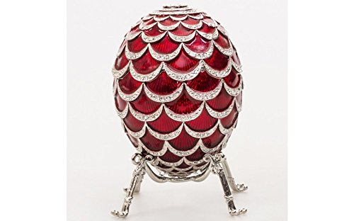 Pine Cone Fabergé Style Musical Egg with Swarovski Crystals (Melody: P. Tchaikovsky's Swan Lake)