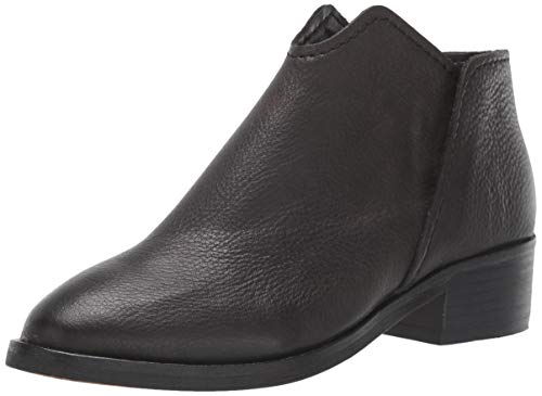 Dolce Vita Women's Trist Ankle Boot, Black Leather, 7 M US (Vita 7 Dolce Boots)