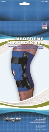 Scott Specialties Sport-Aid Hinged Knee Support - SA9063 BLU MDEA - Medium, 1 Each / Each