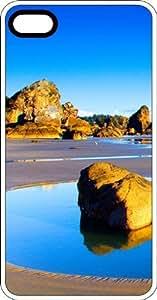 MMZ DIY PHONE CASEBlue Lagoon Beach Paradise White Plastic Case for Apple iphone 5c