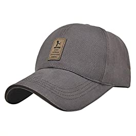 LUFA Pure Color Men's Cotton Outdoor Sport Baseball Cap Casual Sun Hat
