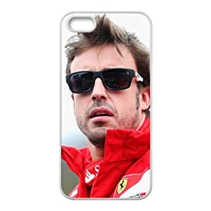 Fernando Alonso White Phone Case For Iphone 4/4S Cover