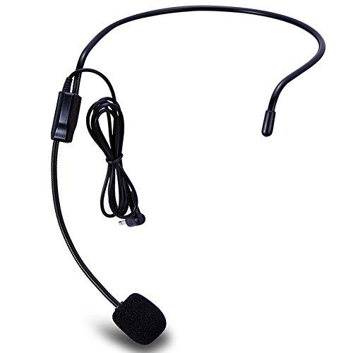 Zoweetek® Unidireccional Micrófono Montado la Cabeza Auricular Diadema Mic Boom Wired Flexible