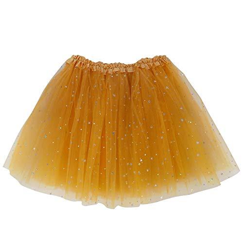 Extra Plus Size Adult Tutu XXL - Princess Costume Ballet Warrior Dash Running Skirt (Gold Star)