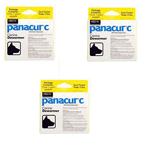 Panacur C Canine Dewormer Dogs 1 Gram Each Packet Treats 10 lbs 3