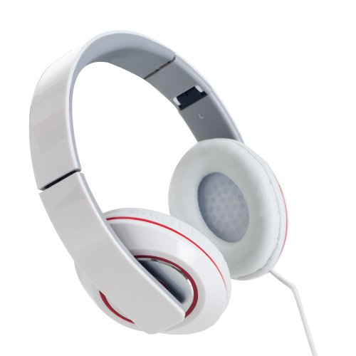 Sunbeam 72-SB540-WH Stereo Bass Foldable Headphones - White (Sunbeam Headphones compare prices)