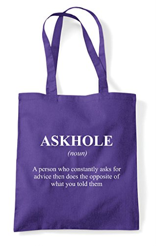 Tote The Purple Alternative Bag Definition Dictionary In Not Shopper Funny Askhole wZA10X