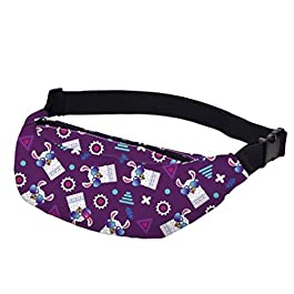 Fashion New Printing Woman Fanny Packs Waterproof Waist Pack Man Purple Hip Pack Bum Bag