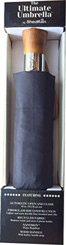 shedrain-ultimate-umbrella-44-arc-auto-open-close-wood-handle-leather-handle-strap-759562-black