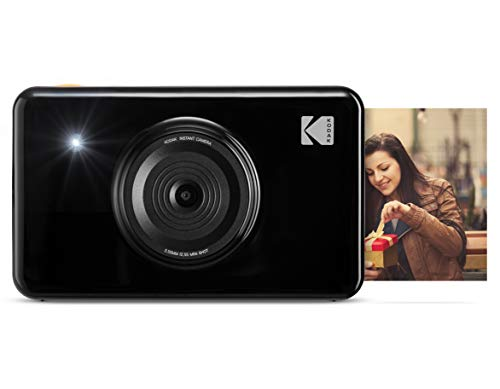Kodak Mini Shot 2 in 1 Wireless Instant Digital Camera and Social Media Portable Photo Printer, LCD Display, Premium Quality Full Color Prints, Compatible w/iOS and Android (Black) ()
