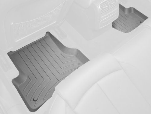WeatherTech Custom Fit Rear FloorLiner for Chevrolet Silverado Crew Cab 2500HD/3500HD, Grey