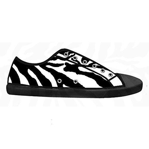 Custom zebra print Mens Canvas shoes Schuhe Lace-up High-top Sneakers Segeltuchschuhe Leinwand-Schuh-Turnschuhe A