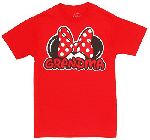 Disney Adults Mickey Mouse Grandma Fan Red X-Large T-Shirt for $<!--$12.54-->