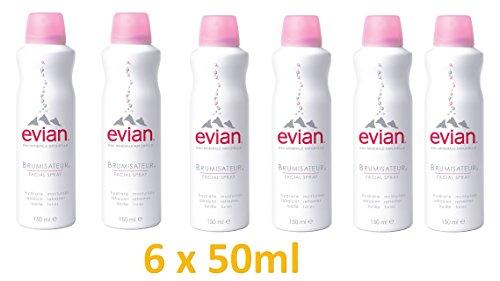 evian Facial Spray 6 Piece Mineral Water Facial Spray Set by evian Facial ()
