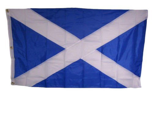 USA Seller3x5 Embroidered Sewn Scotland Cross 300D Nylon Flag 3 clips (Stitched)+ bonus e-book with pictures