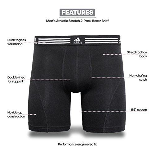 Elasticizzato Da Cotone Intimo Nero confezione Slip Da Adidas nbsp;pantaloni nbsp;– Sportivi t0wnOqIX