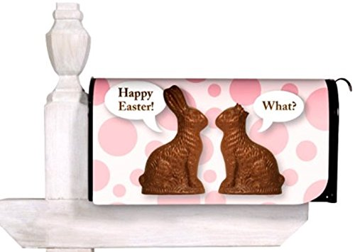 Chocolate Bunnies Easter Magnetic Mailbox Cover Happy Easter