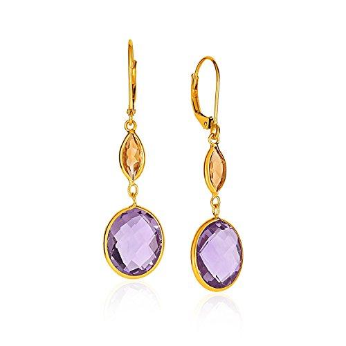 Citrine Briolette Earrings - 7