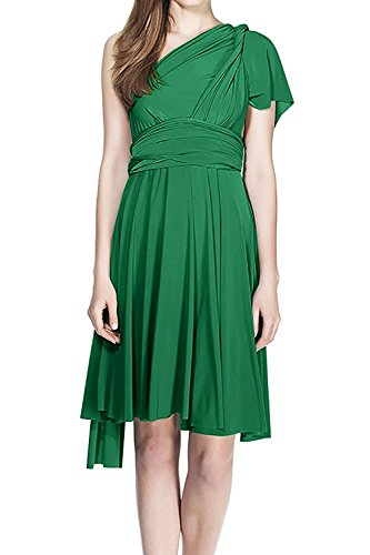FYMNSI Women's Convertible Multi Way Transformer/Wrap Infinity Solid Cocktail Evening Gown Homecoming Short Dress -