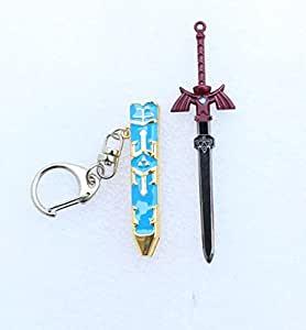 Fashion Jewelry Cosplay Gift sword key chain Legend of Zelda keychains Removable Master Sword Long Pendant keychain