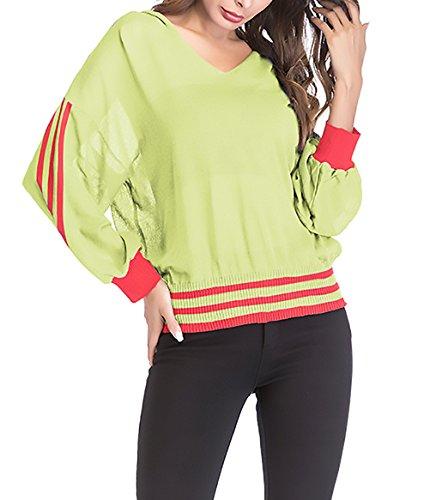 A Giallo V Ragazze Fashion Battercake Neck Bluse Casuale Maniche Shirts Donne Camicia Magliette Camicetta Primaverile Lunghe Autunno Tops Trasparente Baggy Donna Eleganti q1xwSf1Yz