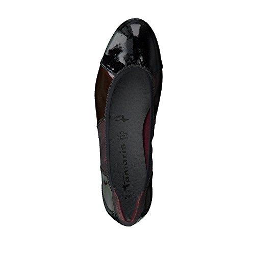 Tamaris Damen 22102 Geschlossene Ballerinas bordeaux/metallic