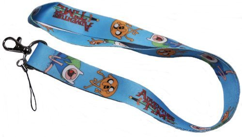 1 X ADVENTURE TIME With Finn & Jake LANYARD Keychain
