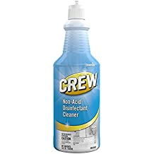 Diversey Crew Non-Acid Disinfectant Cleaner - Cleans, Disinfects, and Deodorizes in One Easy Step, 32 oz Squeeze Bottle (6 and 12 Pack)
