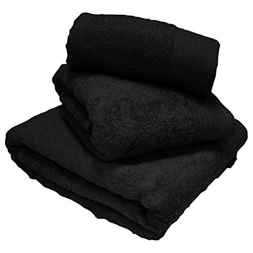 100% Cotton Luxury Egyptian Towel Soft Combed 600 GSM Machine Washable Black Bath Towel