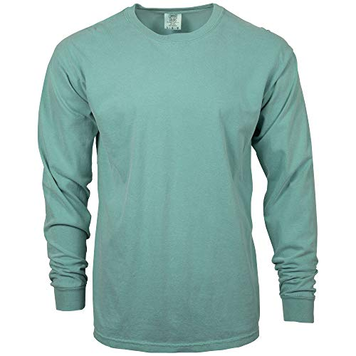 Comfort Colors Men's Adult Long Sleeve Tee, Style 6014, Seafoam, 3X-Large